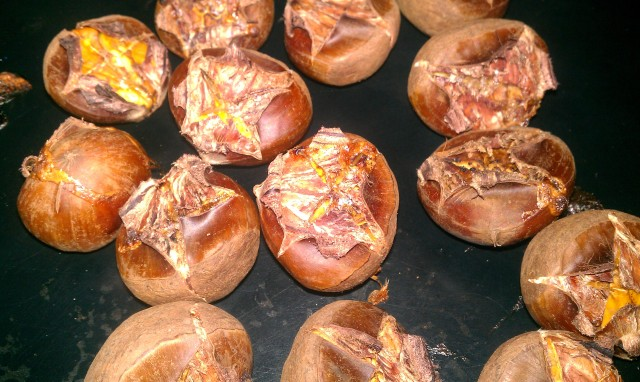how to cook chestnuts on stove
