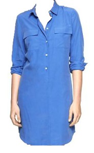 fashion- gap shirt dress blue edited