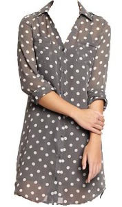 fashion - old navy polkadot chiffon edited